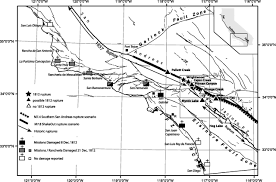 San Andreas Fault Line Map Reconciling Precariously Balanced Rocks Pbrs With Large