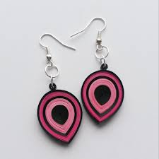 eco earrings quilled earrings eco friendly quilling jewelry paper earrings