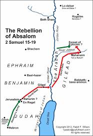 Jordan River Map 12 David U0027s Exile From Jerusalem 2 Samuel 15 14 20 26 Life Of
