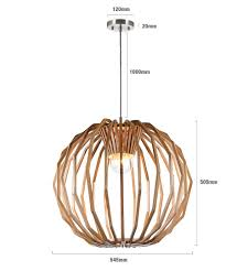 Wooden Pendant Lighting by 1 Light Large Round Pendant In Natural Wood
