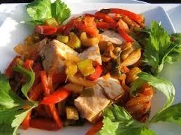 cuisiner le celeri filet de poulet aux poivrons et celeri branche recette ptitchef