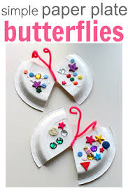 Easy Paper Craft For Kids - easy paper plate craft butterfly no time for flash cards