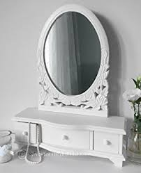 Shabby Chic Vanity Table Shabby Chic Vanity Mirror Dressing Table Storage Unit Jewellery