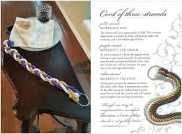 three cords wedding ceremony cord of three strands heathers glen wedding event center