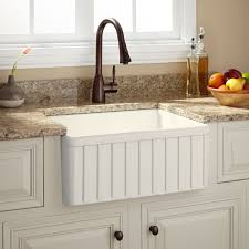 Kitchen 24 by 24 Inch Farmhouse Sink Signature Hardware