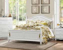 White Wood King Bed Frame Homelegance 1799k 1ck Clementine Classic Style White Cal King Bed