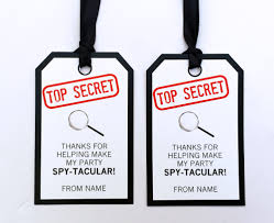 halloween gift tags templates secret agent birthday party invitations spy party ideas