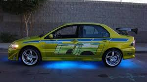 mitsubishi lancer evolution fast and furious paul walker u0027s mitsubishi evo from 2 fast 2 furious available on ebay