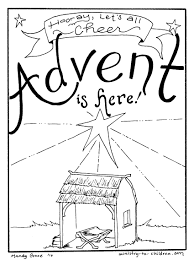 free advent coloring pages for kids christmas printables with