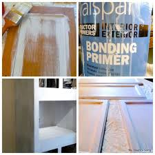 painting mobile home kitchen cabinets painting mobile home kitchen cabinets i used this bonding primer