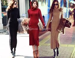 plus size sweater coat women turtleneck pullover sweater dress