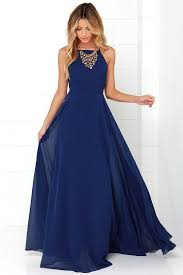 navy blue gown maxi dress homecoming dress 84 00