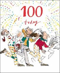 100th Birthday Card Quentin Blake 100th Birthday Greeting Card Cards Love Kates