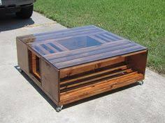 the blackbeard large planked storage industrial coffee table w