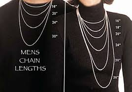 mens necklace lengths images Mens necklace length bulk sterling chain all lengths many styles jpg