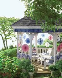 Outdoor Wedding Gazebo Decorating Ideas Stars And Stripes Gazebo Trim Martha Stewart