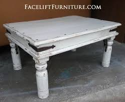 White Distressed Wood Coffee Table 84 Best Refinished Living U0026 Dining Room Furniture Painted