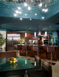 Chandeliers For Kitchen Creative Kitchen Island Chandelier Lighting Above Giallo