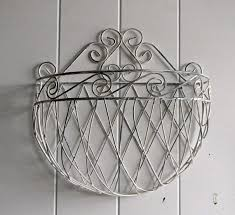 Shabby Chic Wire Basket by Shabby And Chic Wire Wall Planter Cottage Chic By Brisnanajoy