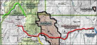 capitol reef national park map capitol reef country scenic byway