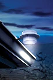 outdoor solar gutter light with mounting bracket also for shed