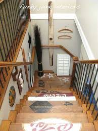 Stairwell Decor Idea Painting And Decorating Ideas For Wooden