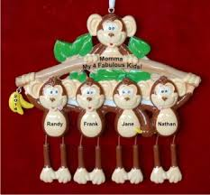 monkey see monkey single parent with 4 kids hand personalized