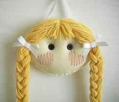 hair clip holder doll hair clip holder light skin with blond hair 16 95