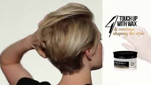 back of pixie hairstyle photos how to style short hair swept back pixie cut youtube