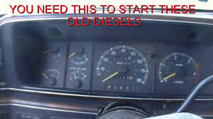 ford 6 9 7 3 diesel glow plug override kit youtube