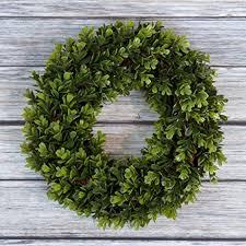 amazon com boxwood wreath artificial wreath for the front door