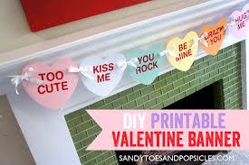 valentines banner easy diy s day printable banner free printables
