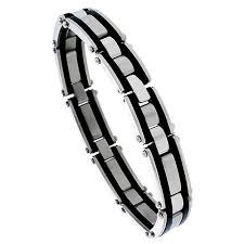 rubber power bracelet images Stainless steel rubber jpg