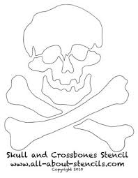 click here for more about the skull and crossbones stencil craft