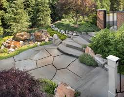 Irregular Stone Patio Should You Use Flagstone Or Pavers In Your Backyard Patio Design