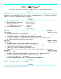 resume exles for hairstylist esthetician resume exles venturecapitalupdate
