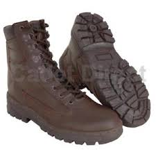 s army boots uk delta patrol boot leather mod brown army boots uk size 7 to