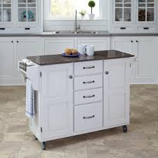 Dolly Madison Kitchen Island Cart Home Styles Liberty White Kitchen Cart 4512 95 The Home Depot