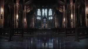 dark village wallpaper dark souls iii video games castle cathedral bridge moon screen shot