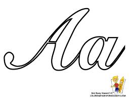classic coloring pages alphabet cursive letters free