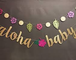 hello baby shower aloha baby shower etsy