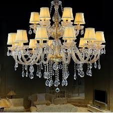 Chandelier Lamp Shades With Crystals Aliexpress Com Buy Elegant Crystal Chandelier With Shades Living