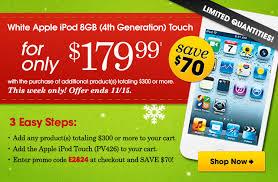 ipod touch black friday fingerhut fingerhut save 70 on a 4th generation apple ipod