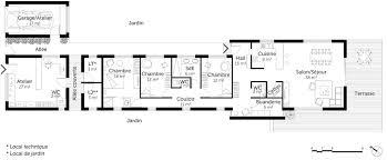 plan maison 6 chambres plain pied plan maison en bois de plain pied ooreka