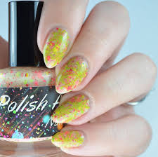 polished lifting retro nail art featuring polish addict nail