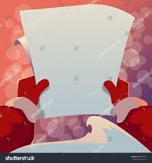 greeting card santa claus holding stock illustration