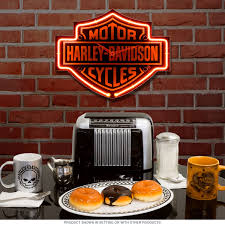 harley davidson bar u0026 shield shaped neon clock motorcycle garage