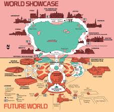 disney epcot map high resolution 1982 epcot center map free for printing