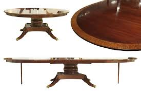 Dining Room Tables With Extensions Custom American Made 84 Inch Round Mahogany Dining Table