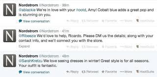 Nordstrom Help Desk Number How Nordstrom Uses Facebook Pinterest Twitter And Google